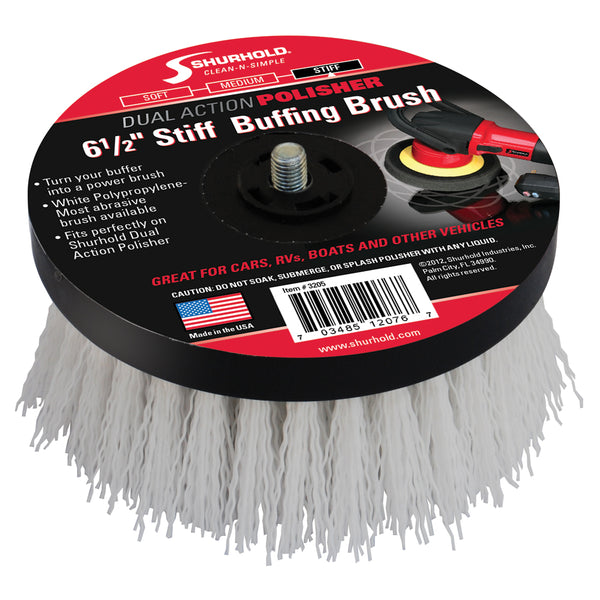 "Shurhold 6-½"" Stiff Brush f/Dual Action Polisher"