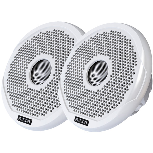 "FUSION FR4021 4"" Round 2-Way IPX65 Marine Speaker - 120W - Pair - White"