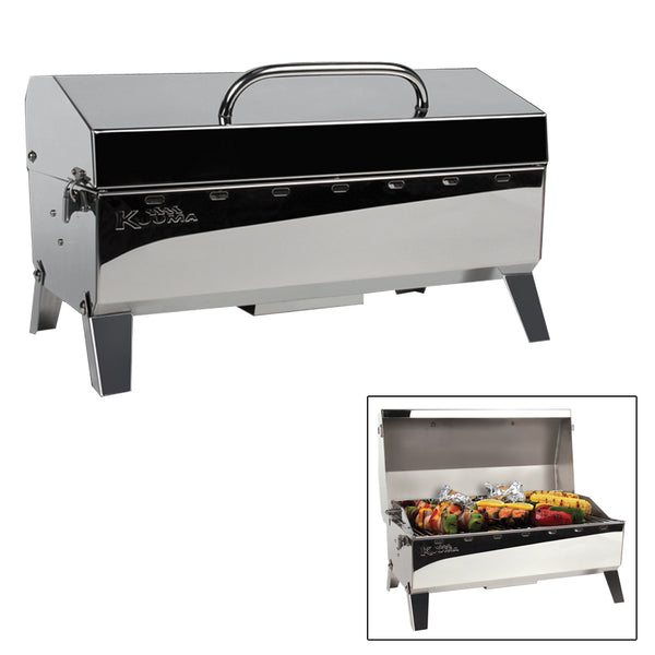 Kuuma Stow N' Go 160 Gas Grill - 13,000BTU w/Regulator, Thermometer and Igniter