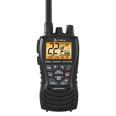 Cobra MR HH450 Dual VHF/GMRS Floating Handheld Radio - Grey