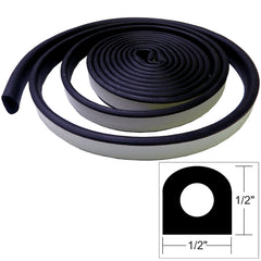 "TACO Weather Seal - 10'L x ½""W x ½""H - Black"