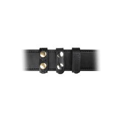 Leather Belt Keeper, 3/4  With and Without Hidden Cuff Key Additional Detail: Without Hidden Cuff Key Color: Black Finish: Plain Snaps: Brass Snaps