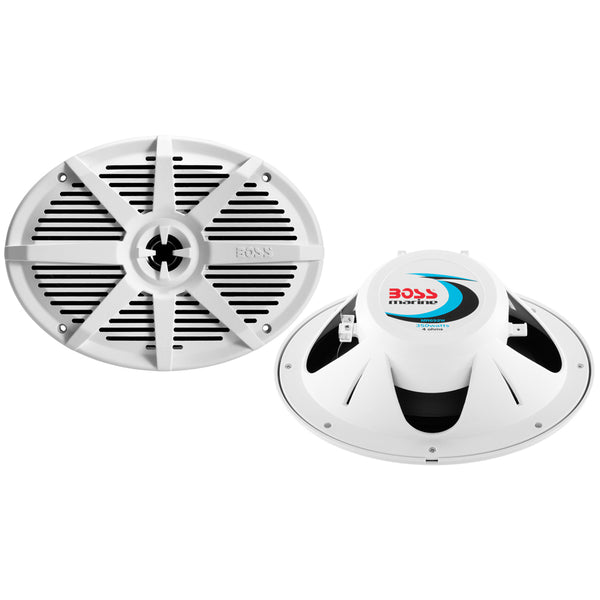 "Boss Audio MR692W 6"" x 9"" 2-Way 350W Marine Full Range Speaker - White - Pair"