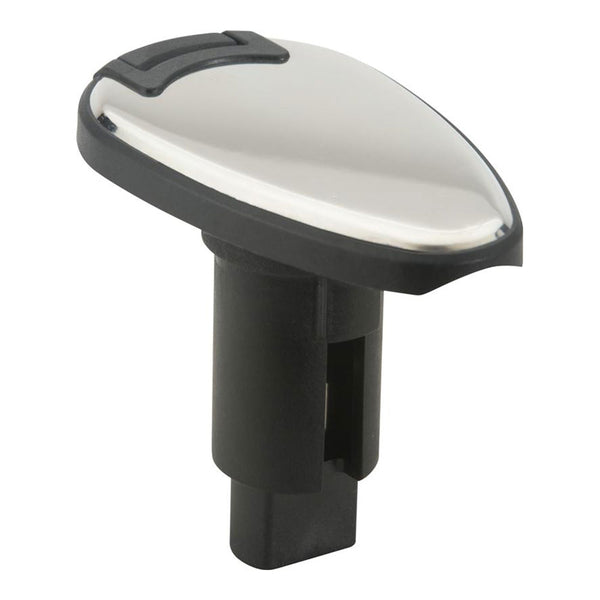 Attwood LightArmor Plug-In Base - 2 Pin - Stainless Steel - Teardrop