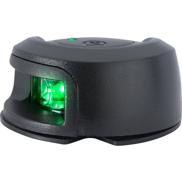 Attwood LightArmor Deck Mount Navigation Light - Black Composite - Starboard (green) - 2NM