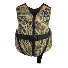 Mustang Rev Child Foam Vest - 30-50lbs - Mossy Oak Shadow Grass Blades