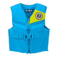Mustang Rev Youth Foam Vest - 50-90lbs - Azure Blue
