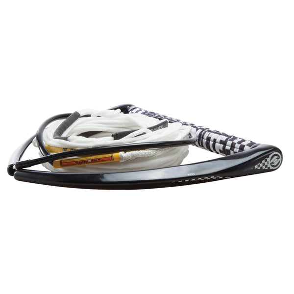 "Hyperlite 75' Rope w/Chamois Handle Fuse Mainline Combo - White - 5 Section - 15"" Handle"