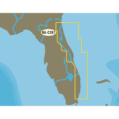 C-MAP NT+ NA-C397 Jacksonville to Miami - C-Card Format