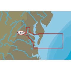 C-MAP NT+ NA-C396 Chesapeake Bay from Pocomoke River to Norfolk - C-Card Format