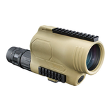 Folded light path spotter with HD prime glass  Fully multicoated optics  Ultra wide band coating and rain guard HD