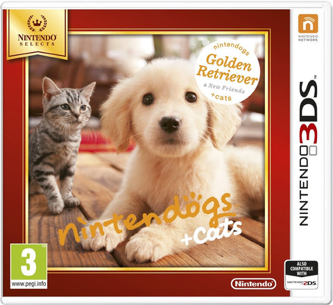 3DS Nintendogs Retriever Selects