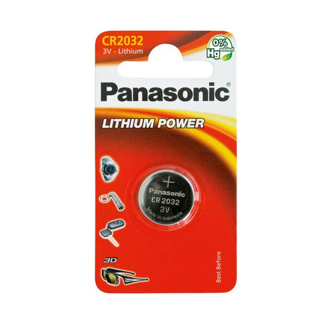 Pilha Lítio Panasonic CR2032 Lithium Power 3V