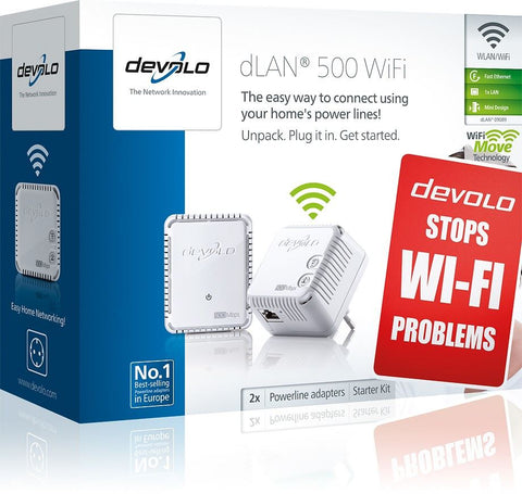 Devolo 9089 dLAN 500 WiFi Starter Kit Powerline