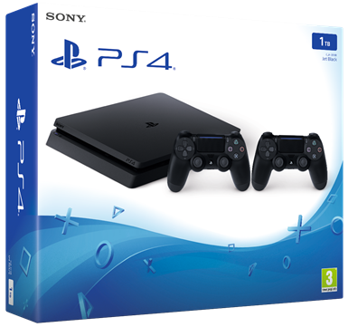 Consola PS4 Slim 1TB + 2 Comandos DS4.