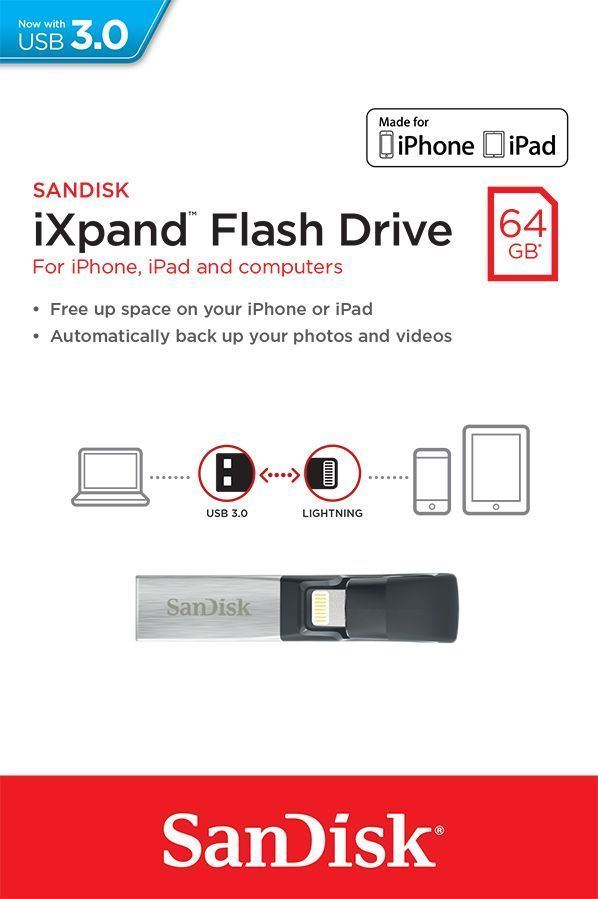 Pen USB SanDisk iXpand Flash Drive 64GB