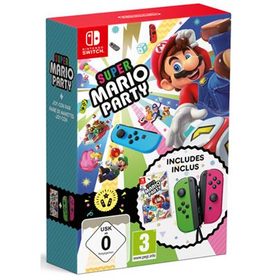 Switch Super Mario Party + Joy Con