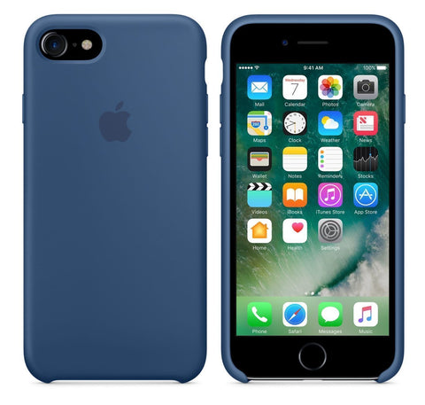Apple Capa em Silicone iPhone 7 Plus Azul Oceano