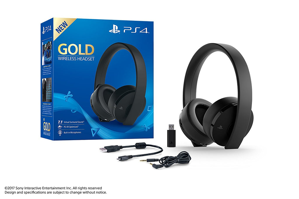 Headset Gaming PS4 Wireless Sony Gold