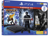 Consola PS4 Slim 1TB + Ratchet & Clank + The Last Of Us + Uncharted 4