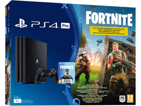CONSOLA PS4 PRO 1TB + FORTNITE