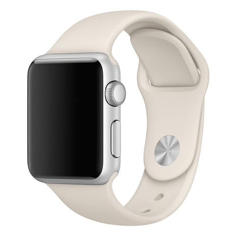 Apple Bracelete 38MM Branco Antigo Sport