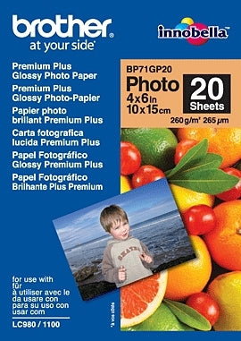 Papel Fotográfico Brother BP71GP20 Glossy 10x15