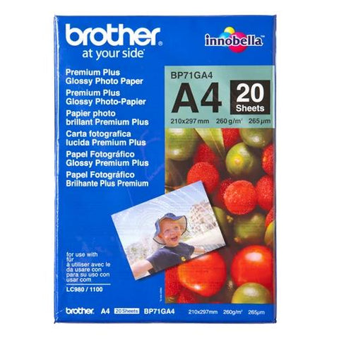 Papel Fotográfico Brother BP71GA4 Glossy A4