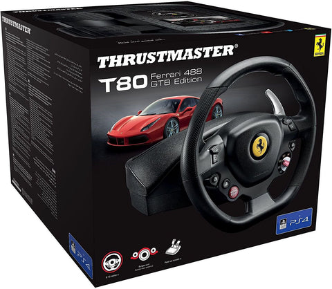 Volante Gaming Thrustmaster T80 RW Ferrari 488 GTB (PS4/PC)