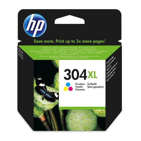 HP Pack Tinteiros 304XL Tricolor (N9K07AE)