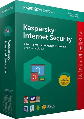 Kaspersky INTERNET SECURITY 2018 MD 3 UTILIZADORES 1 ANO