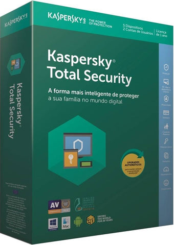 Kaspersky TOTAL SECURITY 2018  5 UTILIZADORES 1 ANO