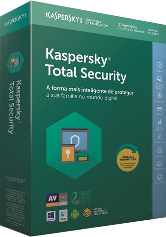 Kaspersky Total Security 2018 3 Utilizadores 1 Ano