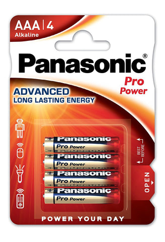 Panasonic Pack 4 Pilhas Alcalinas AAA Pro Power 1,5V