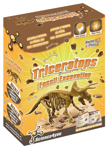 Science4you ESCAVAÇÕES FÓSSEIS - TRICERATOPS