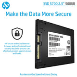 SSD Interno HP 2.5 S700 500 GB Sata III