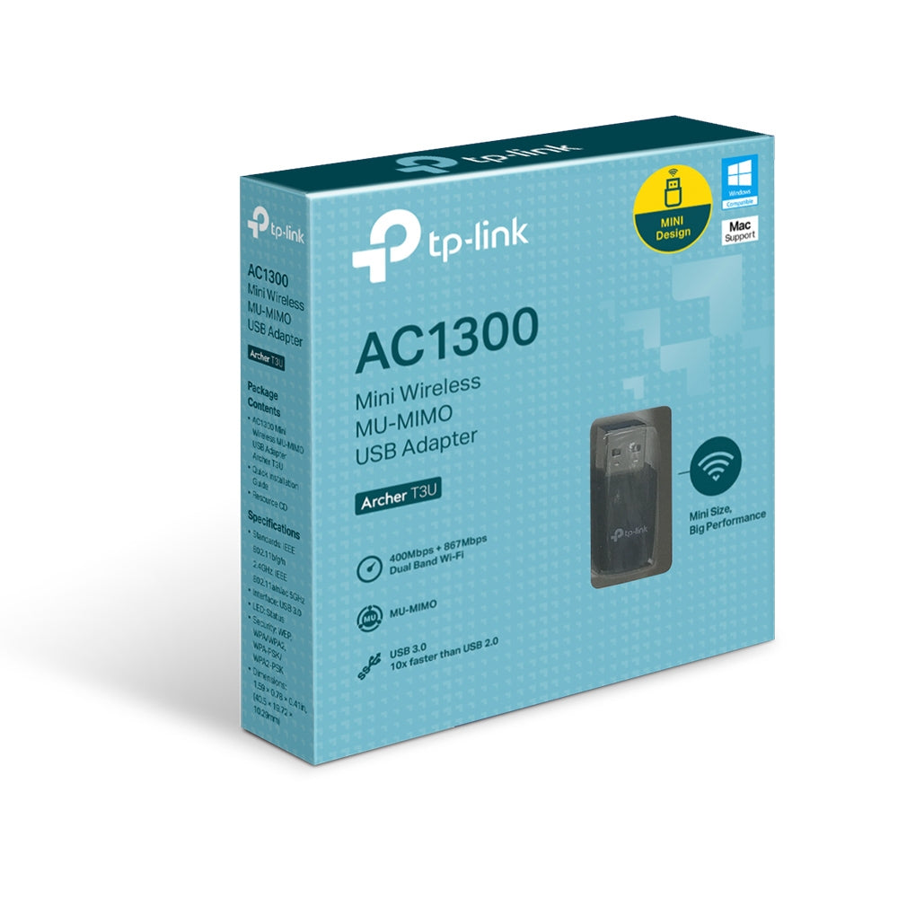 Adaptador USB Wireless TP-Link Archer T3u Mu-Mimo