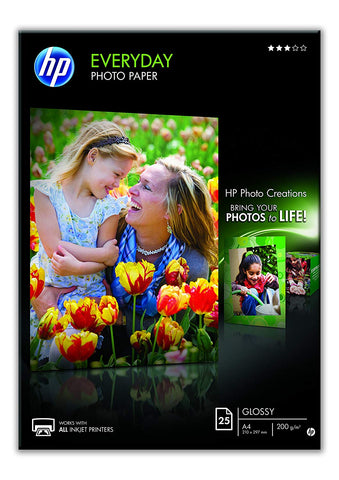 HP Papel Fotográfico A4 25F 200G Glossy