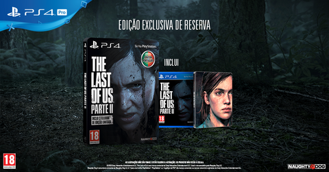 Jogo PS4 The Last Of Us: Parte II Steelbook Edition