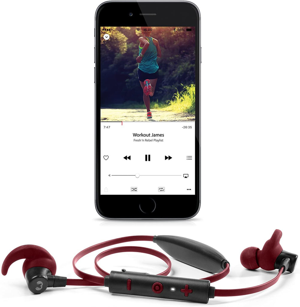 Auriculares Bluetooth Fresh 'n Rebel para desporto Lace Ruby