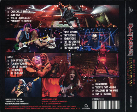 CD Iron Maiden - Nights of the Dead - Legacy of the Beast: Live in Mexico City - 2CD