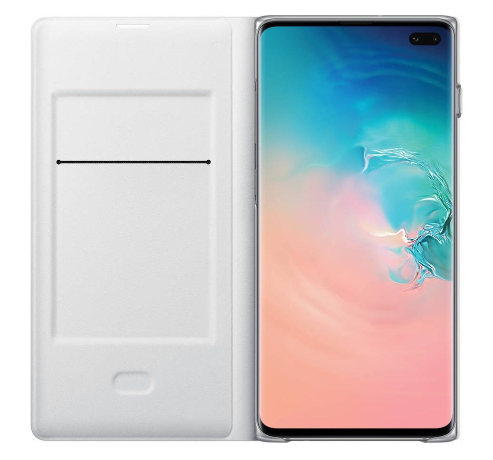 Capa Smartphone LED View Samsung Galaxy S10+ Branco