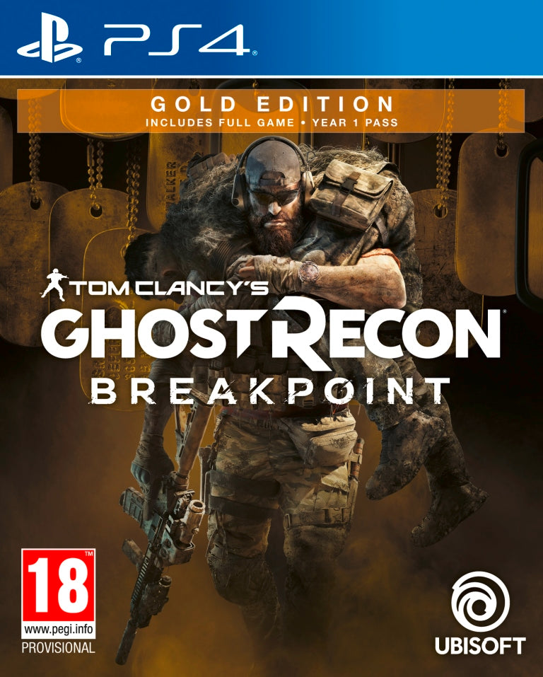 Jogo PS4 Ghost Recon Breakpoint Gold Edition.