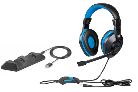 Headset Gaming PS4 + Dual Charging Station