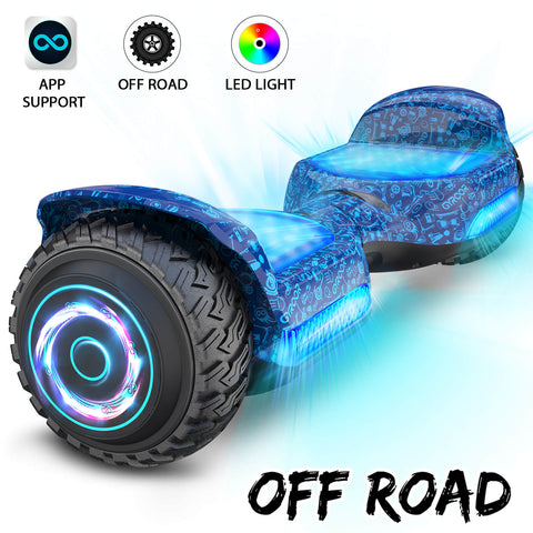 Hoverboard Gyroor All Led OffRoad 6.5 Azul