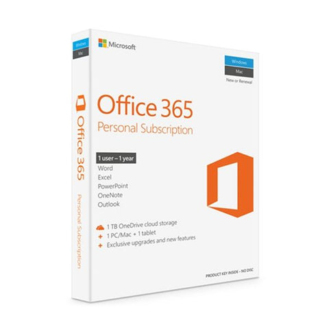 Software Microsoft Office 365 Personal Pt Eurozone 1 Ano Windows/Mac/Android/iOS