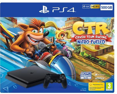 Consola PS4 Slim 500 GB Preta + Crash Team Racing
