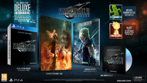 Jogo PS4 Final Fantasy VII Remake Deluxe Edition