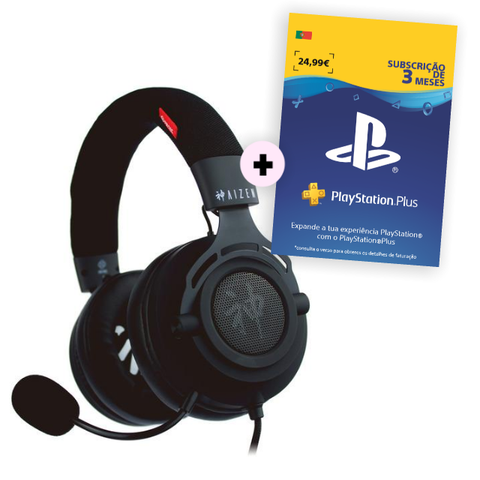 Conjunto Headset Aizen + PS Plus 3 meses