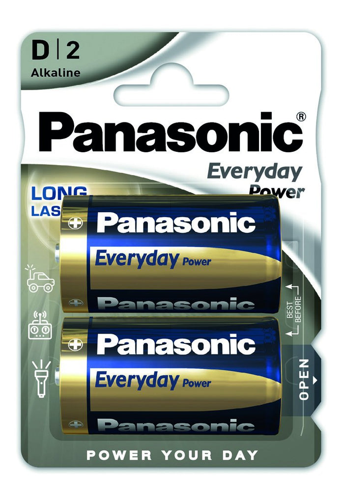 Pilhas Alcalinas Panasonic Pack 2 Everydaypower LR20